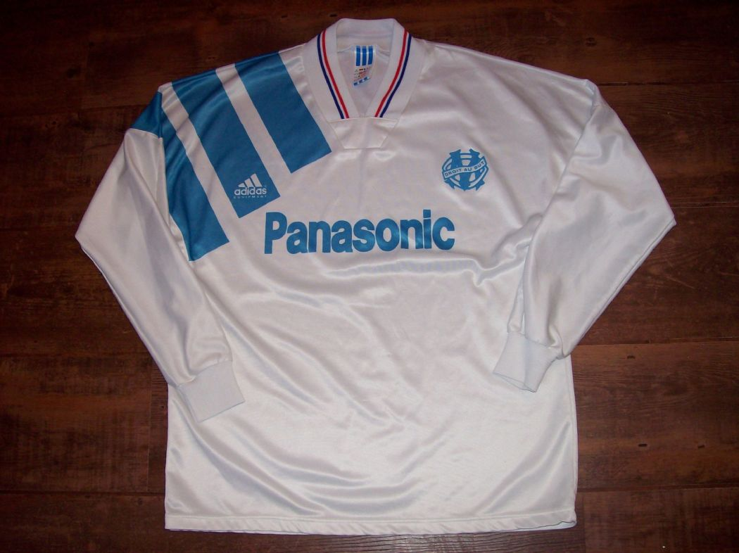Classic Football Shirts | 1991 Marseille Vintage Old Soccer Jersey